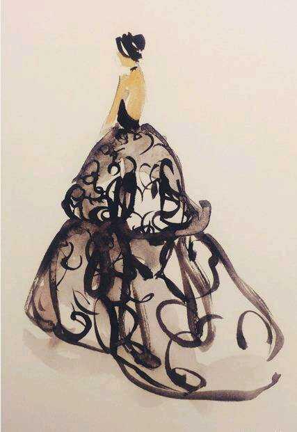 婚纱礼服 手绘设计图 太美啦